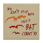 Bat Country Tile Coaster