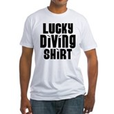 Lucky Diving Shirt Fitted T-Shirt