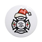 Christmas Firefighters Ornament (Round)