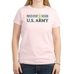 2LT - Proud of my soldier Women's Pink T-Shirt