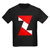 Scuba Flag Letter Z Kids Dark T-Shirt