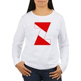 Scuba Flag Letter Z Women's Long Sleeve T-Shirt