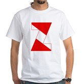 Scuba Flag Letter Z White T-Shirt
