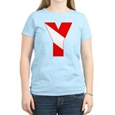 Scuba Flag Letter Y Women's Light T-Shirt