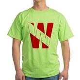 Scuba Flag Letter W Green T-Shirt
