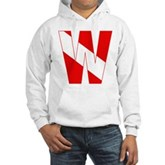 Scuba Flag Letter W Hooded Sweatshirt