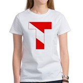 Scuba Flag Letter T Women's T-Shirt
