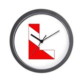 Scuba Flag Letter L Wall Clock