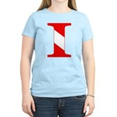 Scuba Flag Letter I Women's Light T-Shirt