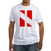 Scuba Flag Letter H Fitted T-Shirt