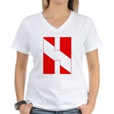 Scuba Flag Letter H Women's V-Neck T-Shirt