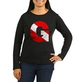 Scuba Flag Letter G Women's Long Sleeve Dark T-Shi