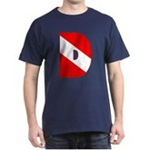 Scuba Flag Letter D Dark T-Shirt