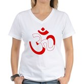 Scuba Flag Om / Aum Women's V-Neck T-Shirt