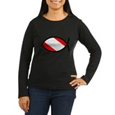 Scuba Flag Ichthys Women's Long Sleeve Dark T-Shir