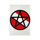 Scuba Flag Pentagram Rectangle Magnet