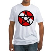 Scuba Flag Pentagram Fitted T-Shirt