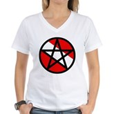 Scuba Flag Pentagram Women's V-Neck T-Shirt