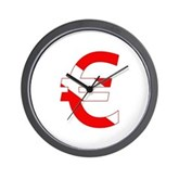 Scuba Flag Euro Sign Wall Clock