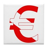 Scuba Flag Euro Sign Tile Coaster