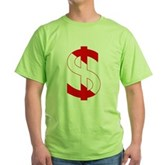 Scuba Flag Dollar Sign Green T-Shirt