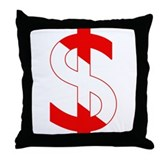 Scuba Flag Dollar Sign Throw Pillow