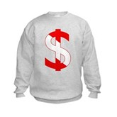 Scuba Flag Dollar Sign Kids Sweatshirt