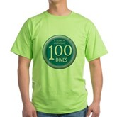 100 Dives Milestone Green T-Shirt
