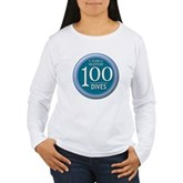 100 Dives Milestone Women's Long Sleeve T-Shirt