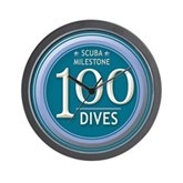 100 Dives Milestone Wall Clock