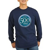 500 Dives Milestone Long Sleeve Dark T-Shirt