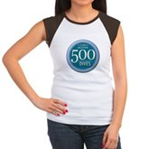 500 Dives Milestone Women's Cap Sleeve T-Shirt