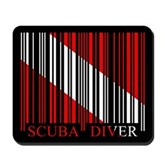 Barcode Dive Flag Mousepad