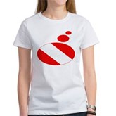 Thought Bubble Dive Flag Women's T-Shirt