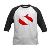 Text Bubble Dive Flag Kids Baseball Jersey