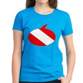 Text Bubble Dive Flag Women's Dark T-Shirt