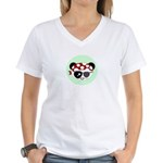 Pirate Panda Women's V-Neck T-Shirt