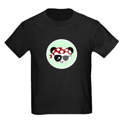 Pirate Panda Kids Dark T-Shirt