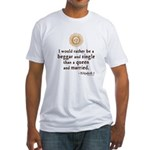 Elizabeth Marriage Quote Fitted T-Shirt