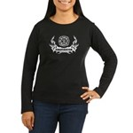 Fire Dept Tattoos Women's Long Sleeve Dark T-Shirt