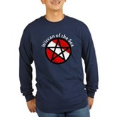 Wiccan of the Sea Long Sleeve Dark T-Shirt
