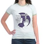 Psalm 118 verse 8 Jr. Ringer T-Shirt