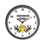 Firefighter Family Wall Clock