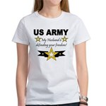 Army My husband is defending Women's T-Shirt