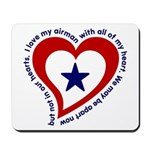 Heart service Flag - Airman Mousepad