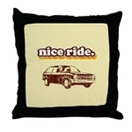 Nice Ride Throw Pillow
