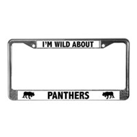 Panther License Plate Frames