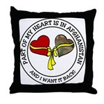 Part of my Heart - Afghanistan Throw Pillow