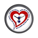 2 Star Service Flag - Airmen Wall Clock
