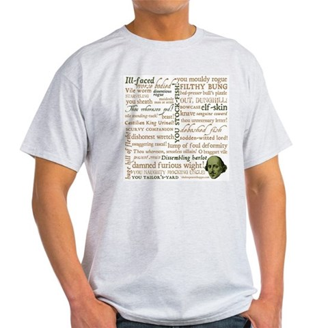 Shakespeare Insults Light T-Shirt